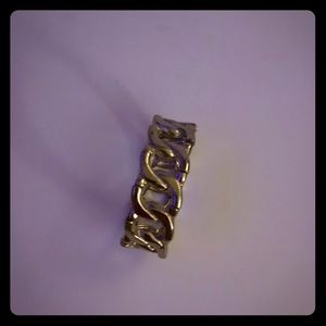 Vintage stretch loop gold bracelet in EUC
